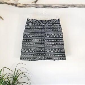 Maeve   Anthropologie Black White Tribal Skirt 6